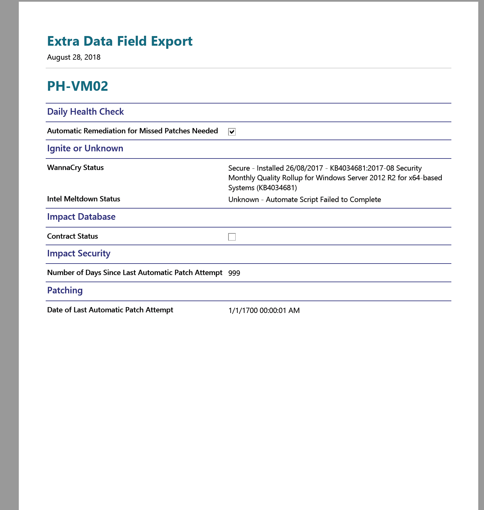 Free Report – Export all EDFs (Even Custom Ones!)
